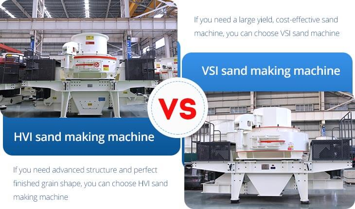 HVI and VSI sand making machines