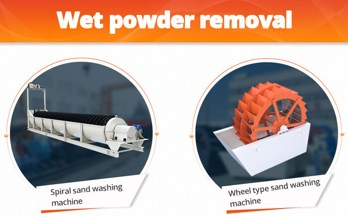 Wet powder removel