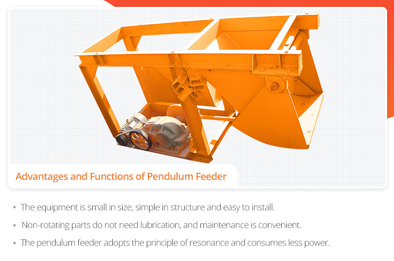 Advantages and Functions of Pendulum Feeder