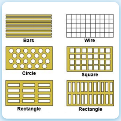 types of vibrating screen mesh