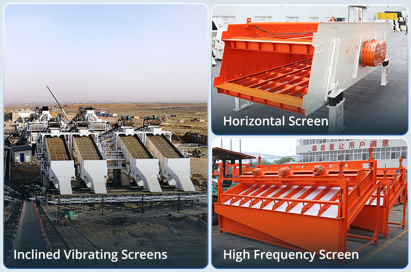 3 types of vibrating screens