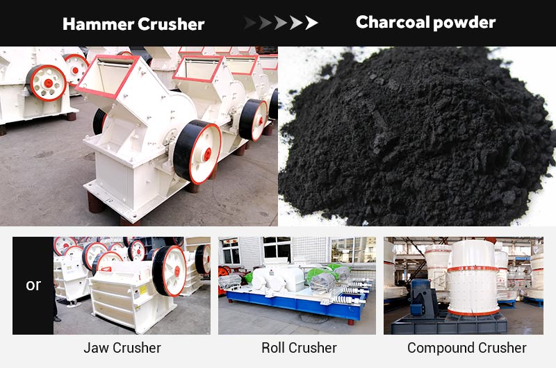 Fote crushers to crush charcoal
